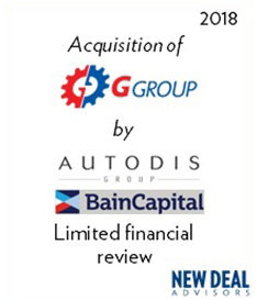 Acquisition of GGROUP by Autodis