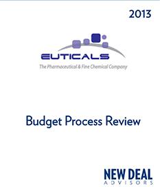 Euticals Budget Process 2013