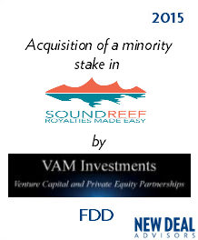 Acquisition of SOUNDREEF