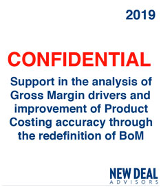 Support in the analysis of Gross Margin drivers and improvement of Product Costing accuracy through the redefinition of BoM