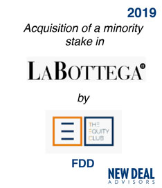 Acquisition of a minority stake in La Bottega