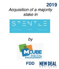 Acquisition of a majority stake in Stentle