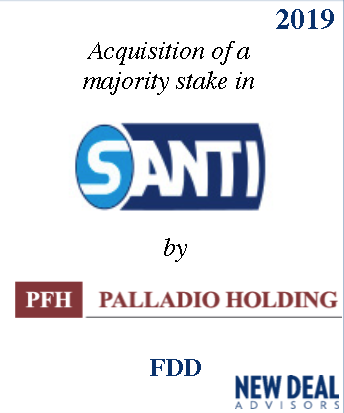Acquisition of a majority stake of Santi by Palladio Holding