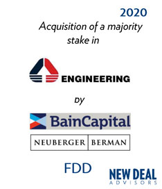 Acquisition of a majority stake in Engineering by BainCapital