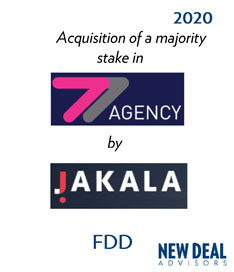 Acquisition of a majority stake in 77Agency by Jakala