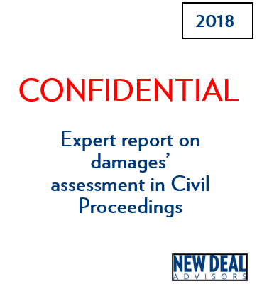 Expert report on damages' assessment in Civil Proceedings