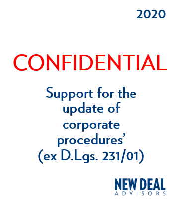 Support for the update of corporate procedures'                 (ex D.Lgs. 231/01)