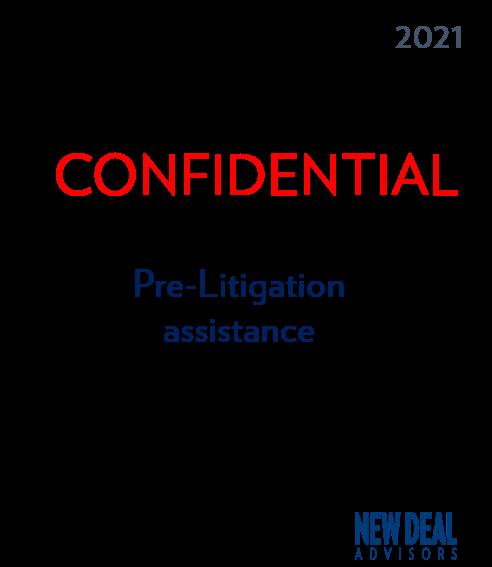 Pre-Litigation assistance